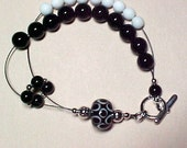 Black Onyx Row Counting Abacus Bracelet for Knitting and Crochet - Eclipse - Item No. 528