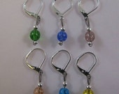 Removable Stitch Markers - Multi-Colored Crackle Beads - Item No. 759