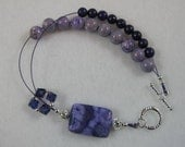 Positively Purple - Abacus Row Counting Bracelet for Knitting and Crochet - Item No. 823