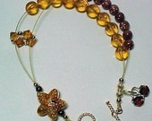 Starfish - Stitch Marker Holder and Abacus Row Counter Bracelet - Item No. 22