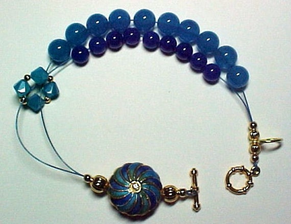 Lucy In The Sky With Diamonds Stitch Marker Holder and Abacus Bracelet  - Item No. 382