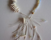 white flotsam necklace
