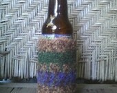 autumn felted beer bottle cozy coozie on hold for mollie