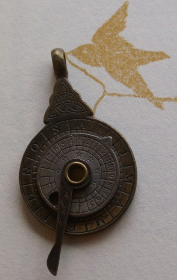 brass astrolabe charm or pendant steunk