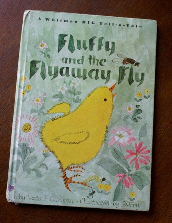 Vintage Whitman Book, Fluffy and The Flyaway Fly