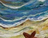 No.533 Beach Too - Needlefelt Art XLarge