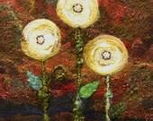 No. 613 Floral Too - Needlefelt Art XLarge