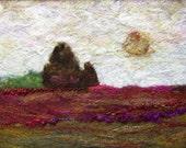 No.646 Rose Field - Needlefelt Art XLarge