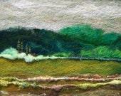 No.328 Green Hills - Needlefelt Art Large
