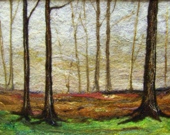 No. 518 In the Woods Too - Needlefelt Art XLarge - Wool Painting