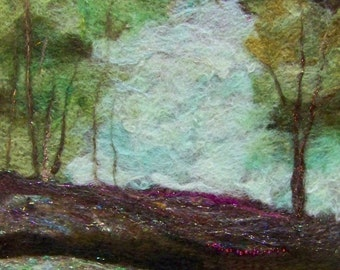 No.537 Woodland Walk - Needlefelt Art XLarge