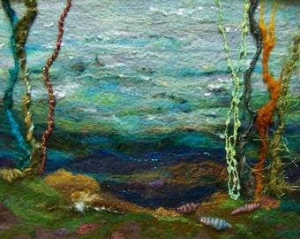 No.553 Ocean Floor - Needlefelt Art XLarge