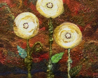 No. 613 Floral Too - Needlefelt Art XLarge