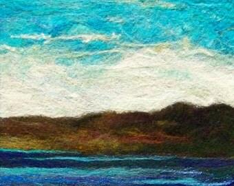 No.628 The Blues - Needlefelt Art XLarge