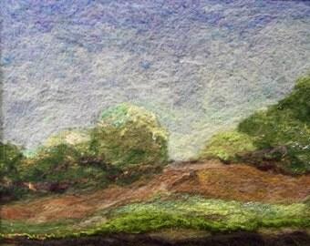 No.197 Green Brush - Needlefelt Art Large