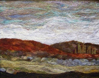 No.640 Hills at Dusk - Needlefelt Art XLarge