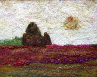 No.646 Rose Field - Needlefelt Art XLarge