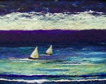 No.655 Sail Again - Needlefelt Art XLarge