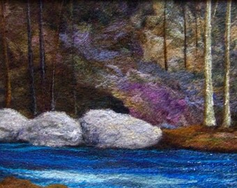 No.657 River Flows - Needlefelt Art XLarge