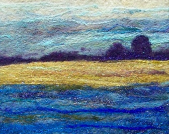 No.672 Golden Field - Needlefelt Art XLarge