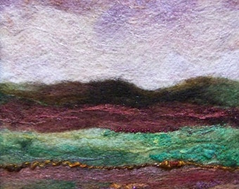 No.678 Lavender Sky - Needlefelt Art XLarge
