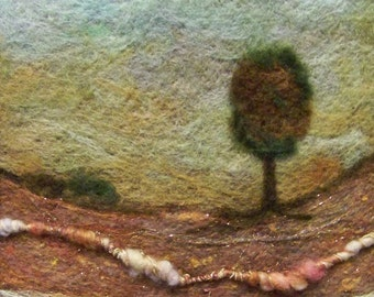 No.241 Lone Tree Too - Needlefelt Art Large