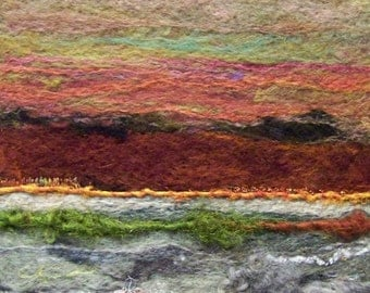 No. 242 Rust Hills - Needlefelt Art Large