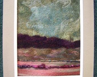 Sale! No.378 Warm Field Too - Needlefelt Art Large