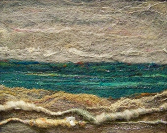 No.411 Sea to Shore Too - Needlefelt Art Large