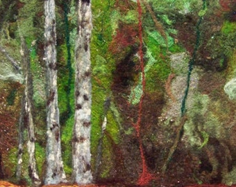 No.423 In the Woods - Needlefelt Art XLarge