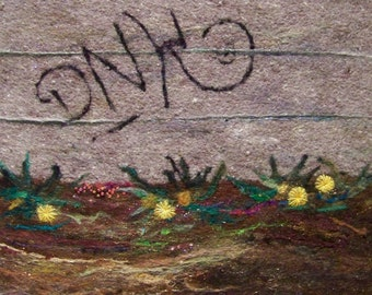 No.444 Graffiti Too - Needlefelt Art XLarge
