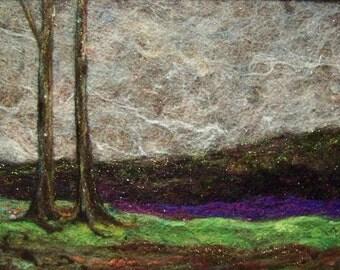No.448 Trees at Dusk - Needlefelt Art XLarge