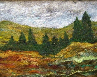No.473 Tree Line - Needlefelt Art XLarge