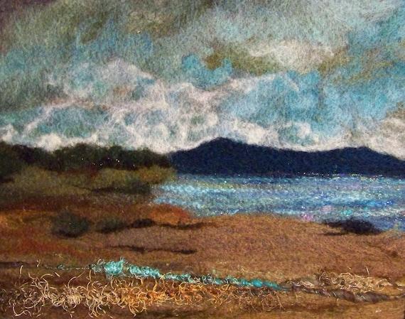No.683 Beach Too - Needlefelt Art XLarge