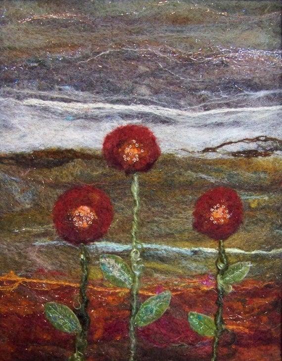 No.724 Triplets - Needlefelt Art XLarge