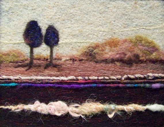 No.365 Two's Company - Needlefelt Art Large