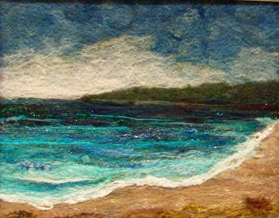 No.421 Beach Too - Needlefelt Art XLarge