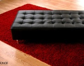 Bokz Leather Button sofa Bench  Mid century modern style furniture