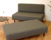 BOKZ  SOFA  SET - love seat and sofa bench   Mid Century Modern Design