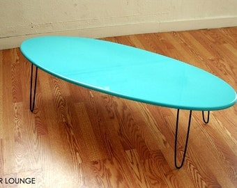 Eliptikal coffee Table Surfboard Eames Era Modern Loft style