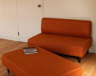 BOKZ  SOFA  SET - love seat and sofa bench   Mid Century Modern Design