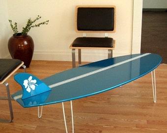 Surf Board Coffee table  Eames Era Mid Century 50s style longboard