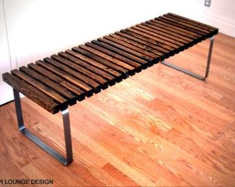 SPB-5 spruce slat bench  Eames Era - Mid Century Modern Design