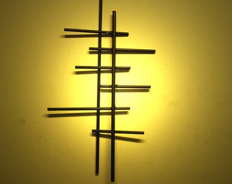 Antennas - Mid Century Modernist Metal wall sculpture art