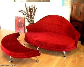 Havana Love Seat and Ottoman - Velvet