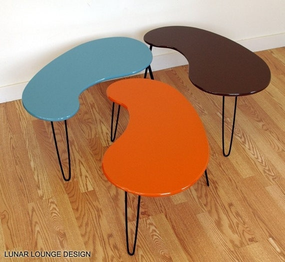 Kidney Bean Coffee Table Mid Century Modern Design