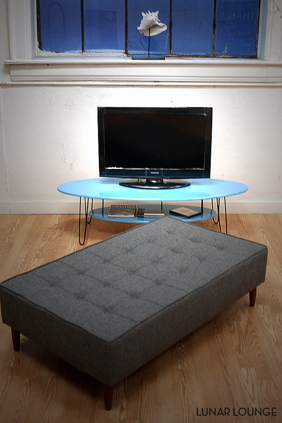 Eliptikal  Media Stand - 2 tier coffee table Mid Century Modern Design
