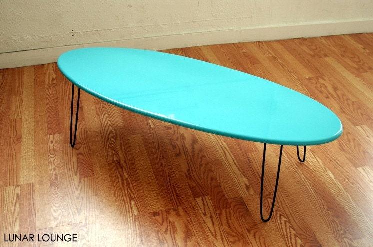 Eliptikal Coffee Table Surfboard Eames Era Modern Loft Style