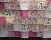 Girls Fairy Tale Rag Quilt