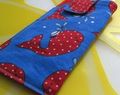 Reserved for Jessie - Loop-de-loop Glasses Case - Dotty whales